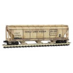 Micro Trains Line 99305610  3 Bay Covered Hoppers - CSX/ex Family Lines Weathered - 3 Pack
