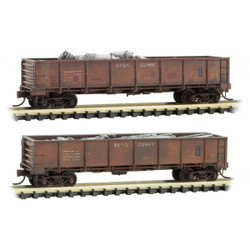 Micro Trains Line 993 05 620 40' Drop Bottom Gondola - Spokane Portland & Seattle SP&S #22902 & #22907 Weathered - 2 Pack