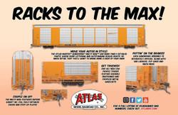 Atlas Master HO 20005662 Gunderson Multi-Max Auto Rack Canadian National CN-GTW TTGX #695790