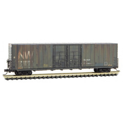 Micro Trains Line 102 44 040 60' Excess Height Double Plug Door Rivet Side Boxcar Weathered & Graffiti Norfolk and Western N&W #605010