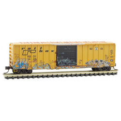 Micro Trains Line 02544568 50' Rib Side Single Door Boxcar Railbox Graffiti 'A Year In Railbox #2' RBOX #34338