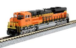 Kato N 176-8525 DCC Ready EMD SD70ACe Diesel Locomotive Burlington Northern Santa Fe BNSF #8574
