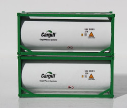 Jacksonville Terminal Company N 205213 20' Standard Tank Container CARGILL with Full Length Three Quarter Walkway 2-Pack