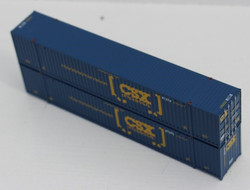 Jacksonville Terminal Company N 535024 53' High Cube Container UMXU - ex CSX Boxcar Logo - 2-Pack