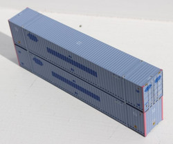 Jacksonville Terminal Company N 535068 53' High Cube Container COFC - ex PACER - 2-Pack