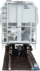 Walthers Mainline HO 910-7641 60' NSC 5150 3-Bay Covered Hopper First Union Rail FURX #845307