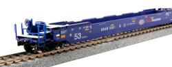 Kato HO 30-9056 Gunderson MAXI-IV Double Stack Well Car Set - Pacer Stacktrain BRAN #6066
