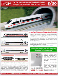 Kato N ICE4-ZIMO High Speed Bullet Train 12 Car Bundle Set with ZIMO DCC and Sound