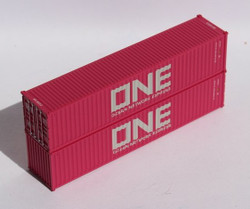 Jacksonville Terminal Company N 405313 40' Standard Height Corrugated Container ONE Ocean Network Express 2-Pack