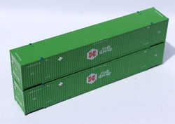 Jacksonville Terminal Company N 537001 53' High Cube Container HUB GROUP 2-Pack