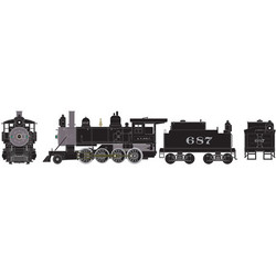 Athearn RTR HO ATH84915 Old Time 2-8-0 Consolidation Steam Locomotive with DCC & Sound Santa Fe ATSF #687