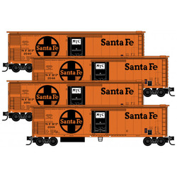 Micro Trains Line 99300167 51' Rivet Side Mechanical Reefer Atchison Topeka & Santa Fe AT&SF 4-Pack SFRP #'s 2040, 2046, 2051, 2059