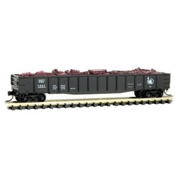 Micro Trains Line 10500301 50' Steel Side, 14 Panel, Fixed End Fishbelly Side Gondola Central New Jersey CNJ #1521