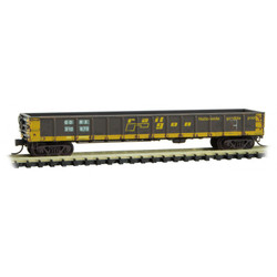 Micro Trains Line 99305660 50' Steel Side, 14 Panel, Fixed End Straight Side Gondola - RAILGON Weathered and Graffiti - 4 Pack
