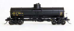 Tangent Scale Models HO 19014-10 General American 1917-design 8000 Gallon Radial Course Tank Car UTLX 'Black Repaint 1958+' UTLX #78237