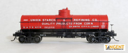 Tangent Scale Models HO 19017-02 General American 1917-design 8000 Gallon Radial Course Tank Car GATX 'Union Starch and Refining 1950+' GATX #6716