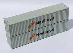 Jacksonville Terminal Company N 405315 40' Standard Height Corrugated Container NEDLLOYD 2-Pack