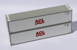 Jacksonville Terminal Company N 405651 40' Standard Height 8'6 Smooth-Side Containers ACL 2-Pack