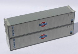 Jacksonville Terminal Company N 405660 40' Standard Height 8'6 Smooth-Side Containers NISSAN 2-Pack