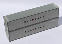 Jacksonville Terminal Company N 405662 40' Standard Height 8'6 Smooth-Side Containers SEALAND 2-Pack