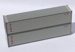 Jacksonville Terminal Company N 405663 40' Standard Height 8'6 Smooth-Side Containers XTRA LEASE 2-Pack