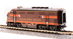 Broadway Limited Imports N 3787 EMD F3 A Chicago Great Western CGW 101C Delivery Scheme A unit equipped with Paragon3 Sound/DC/DCC
