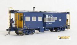Tangent Scale Models HO 60010-06 International Car Company B&O Class I-18 Steel Bay Window Caboose Baltimore & Ohio Original Blue 1968+ B&O #C-3039