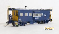 Tangent Scale Models HO 60011-01 International Car Company B&O Class I-18 Steel Bay Window Caboose Baltimore & Ohio Blue Simplified 1969+ B&O #C-3013