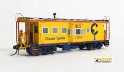 Tangent Scale Models HO 60012-06 International Car Company B&O Class I-18 Steel Bay Window Caboose Chessie System 1973+ B&O #C-3038