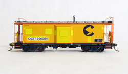 Tangent Scale Models HO 60020-01 International Car Company B&O Class I-18 Steel Bay Window Caboose 'CSX Ex-Chessie Patch 2002+' CSXT #900064