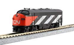 Kato N 106-0425 DCC Ready EMD F7A/B  Set Canadian National CN #9080 & #9057