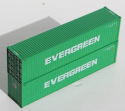 Jacksonville Terminal Company N 405046 40' High Cube  Container EVERGREEN 2-Pack