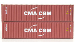Jacksonville Terminal Company N 405095 40' High Cube  Container TEX CMA-CGM 2-Pack