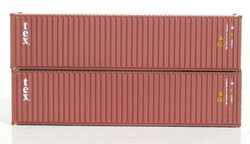 Jacksonville Terminal Company N 405035 40' High Cube  Container TEX 2-Pack