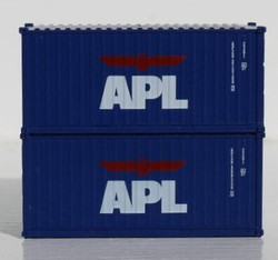 Jacksonville Terminal Company N 205368 20' Standard Height Container American President Lines - APL 2-Pack