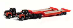 Classic Metal Works N 51193 1954 IH R-190 Tractor with Lowboy Trailer Set - Bonito Contractor - 2 pack