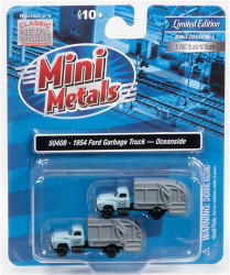 Classic Metal Works N 50408 1954 Ford Garbage Truck - Oceanside DPW - 2 pack