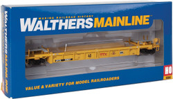 Walthers Mainline HO 910-5641 Thrall Rebuilt 40' Well Car TTX 'Small Red Logo/Next Road Any Load' DTTX #53037