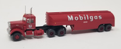 Trainworx N 55017 Vintage Fuel Tanker Peterbilt 350 Tractor Trailer Set - MOBILGAS