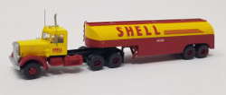 Trainworx N 55018 Vintage Fuel Tanker Peterbilt 350 Tractor Trailer Set - SHELL
