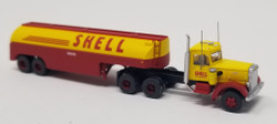 Trainworx N 55018 Vintage Fuel Tanker Peterbilt 350 Tractor Trailer Set - SHELL