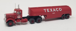 Trainworx N 55019 Vintage Fuel Tanker Peterbilt 350 Tractor Trailer Set - TEXACO