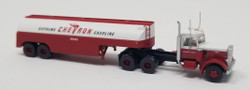 Trainworx N 55120 Vintage Fuel Tanker Peterbilt 351 Tractor Trailer Set - CHEVRON