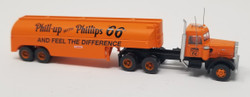 Trainworx N 55122 Vintage Fuel Tanker Peterbilt 351 Tractor Trailer Set - PHILLIPS 66