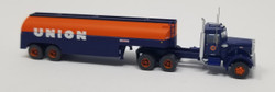 Trainworx N 55125 Vintage Fuel Tanker Peterbilt 351 Tractor Trailer Set - UNION