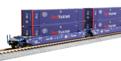 Kato N 1066180 Gunderson MAXI-IV Double Stack Intermodal Well Car 3 unit set Pacer Stacktrain with Pacer Intermodal Containers BRAN #6066