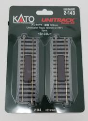"Kato HO Unitrack 2-143 Uncoupling Straight Track 123mm 4 7/8"" 2 pieces"