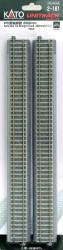 "Kato HO Unitrack 2-181 Concrete Tie Straight Track 369mm 14 1/2"" 4 pieces"