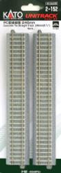 "Kato HO Unitrack 2-152 Concrete Tie Straight Track 246mm 9 3/4"" 4 pieces"