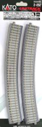 "Kato HO Unitrack 2-252 Concrete Tie Superelevated Easement Curve Track 790mm 31 1/8"" Radius – 22.5 degrees 1 Left + 1 Right"